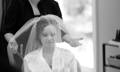 Bride at  Oasis Salon & Spa- Gladwin, MI- The Riverwalk Place